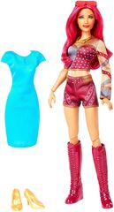 Кукла Саша Бэнкс (Sasha Banks) с голубым платьем - WWE Superstars, Mattel