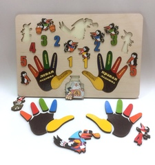 Развивающая доска с вкладышами Пальчики Сорока-белобока, Нескучные игры