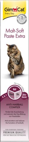 GIMCAT Мальт Софт Экстра паста для кошек для выведения шерсти 20г