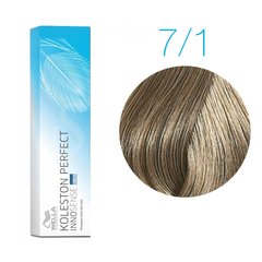 Wella Professionals Koleston Perfect Innosense 7/1 (Блонд пепельный) - Стойкая крем-краска для волос