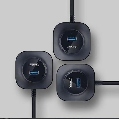 Переходник HUB USB to 4 USB 3.0 30cm /black/ RU-U8