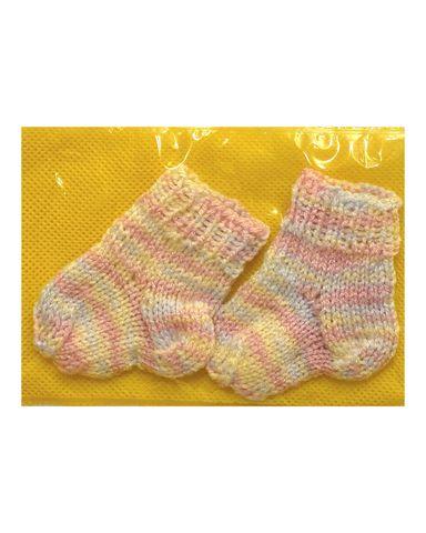 Носки - Меланж розовый. Одежда для кукол, пупсов и мягких игрушек.