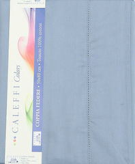 Простыня на резинке 220x200 Сaleffi Raso Tinta Unito с бордюром сатин синяя