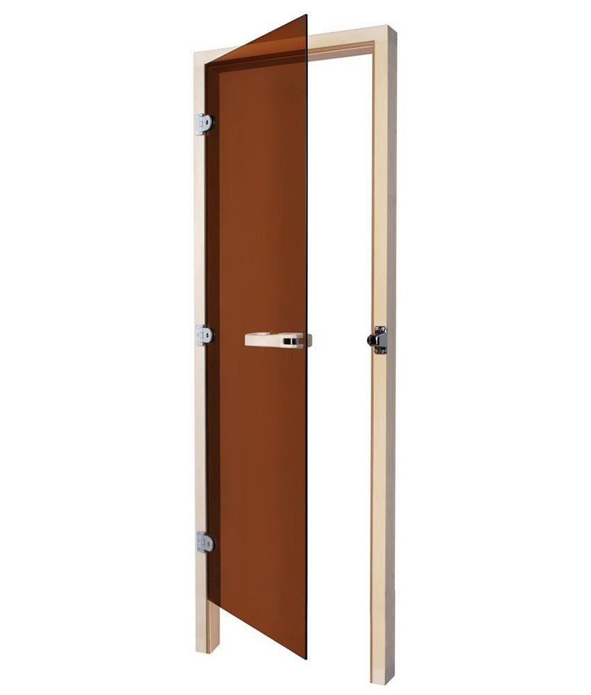 Двери: Дверь SAWO 731-3SGD-R 8/19 (бронза, правая, кедр)