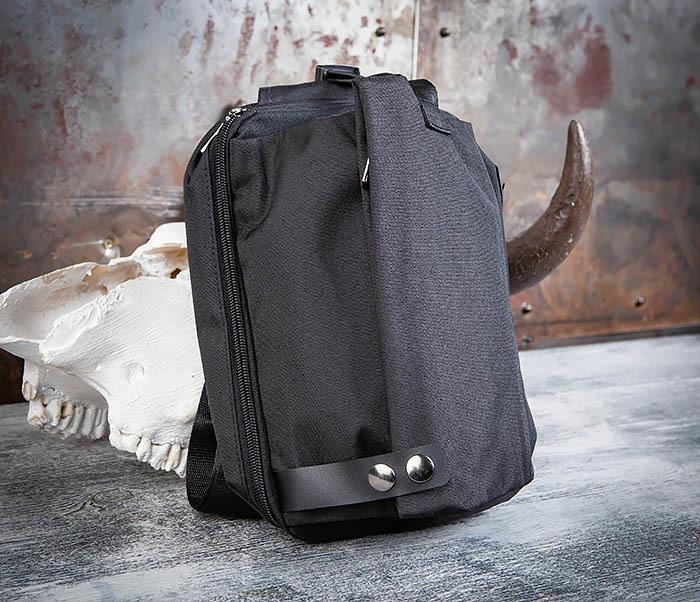 BAG456-1 Сумка черного цвета с одной лямкой через плечо фото 01