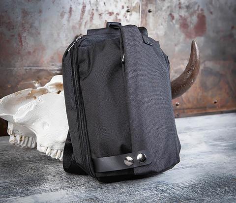 BAG456-1 Сумка черного цвета с одной лямкой через плечо