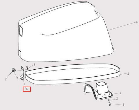 Скоба капота для лодочного мотора F9,8 Sea-PRO (1-6)