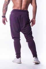 Мужские брюки Nebbia Drop Crotch 729 burgundy