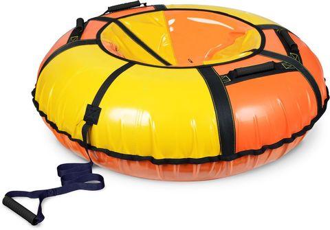 Тюбинг классик Ника ТБ1К-110 (диаметр чехла 1200 мм) оранжевый/желтый