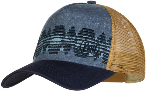 Кепка-бейсболка Buff Trucker Cap Tzom Stone Blue