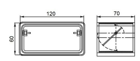 Соединитель-муфта с обратным клапаном 120х60