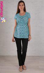 Евромама. Блуза для беременных ментоловая, хлопок-шифон