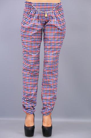 Мирра. Женские брюки больших размеров. Клетка.(Р).