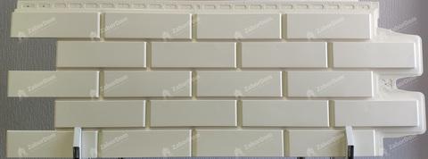 Фасадная панель Гранд Лайн Клинкерный кирпич Молочный 1105х417 мм