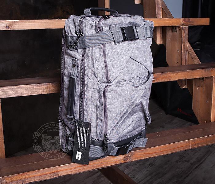 BAG405-2 Вместительный мужской рюкзак трансформер сумка для города из ткани