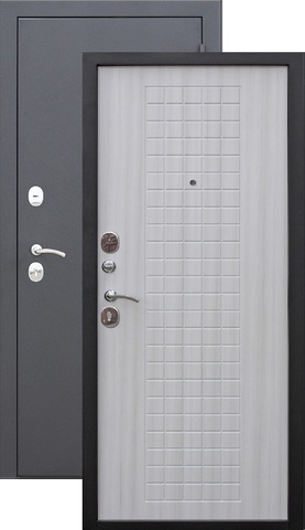 Дверь входная Гарда Муар 8 мм , 2 замка, 1,2 мм  металл, (чёрный муар+дуб сонома)