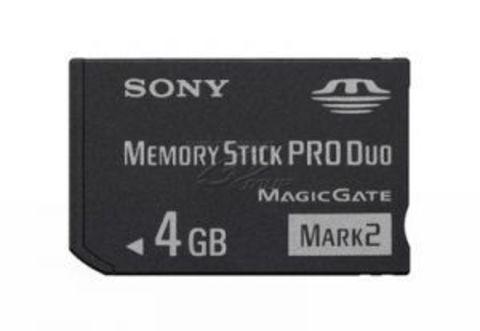 Sony PSP Карта памяти 4Gb Memory Stick PRO DUO