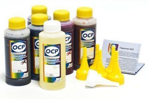 Комплект чернил OCP с промывочной жидкостью для картриджей HP 177 Vivera (BK 90, C/M/Y 93, ML/CL 94 + промывка RSL100) 100 gr x 7