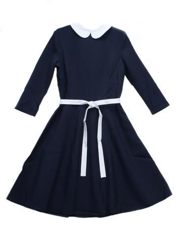 П-23,5 Баловень Школьное платье для девочки синее