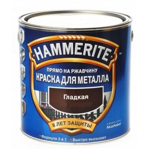 Hammerite Smooth/Хамерайт Краска по ржавчине для металла гладкая глянцевая
