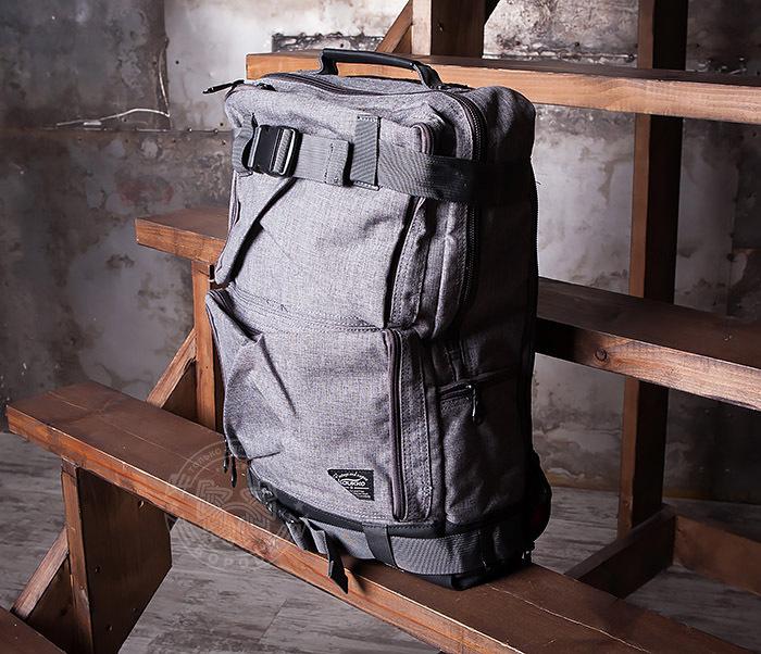 BAG405-2 Вместительный мужской рюкзак трансформер сумка для города из ткани фото 02