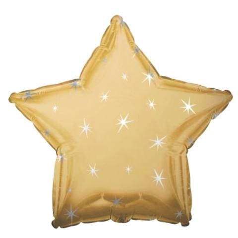 Звезда Золотая Искры, 45 см