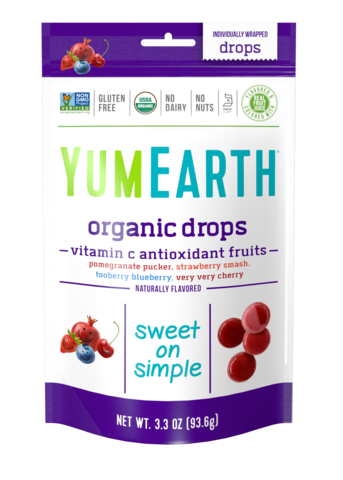 YumEarth органик-леденцы с антиоксидантами и витамином С