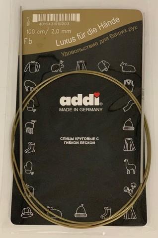 Спицы, круговые, супергладкие, №2, 100 см.ADDI Германия арт.105-7/2-100