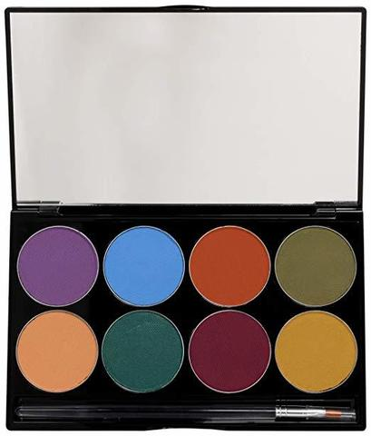 MEHRON Палитра аквагрима Makeup Paradise AQ Face & Body Paint 8 Color Palette  - Nuance, 8 цветов по 7 г