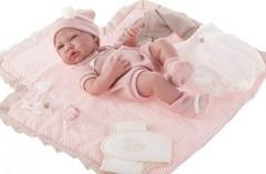 Munecas Antonio Juan Кукла-младенец Кармелита с пеленальным комплектом, 42 см (5095P)