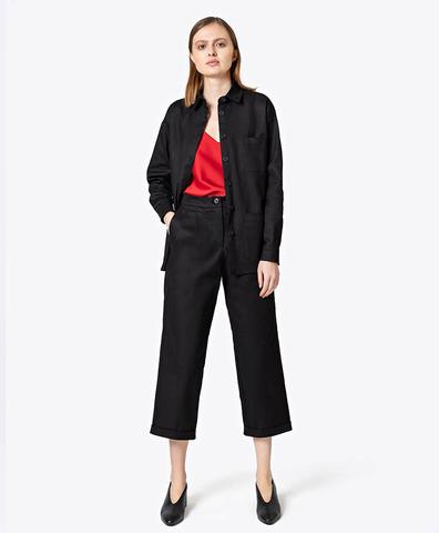 Укороченные брюки черного цвета
