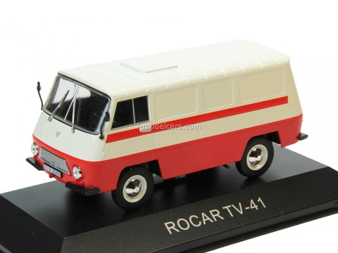 Rocar TV 41 white-red 1:43 DeAgostini Masini de legenda #61