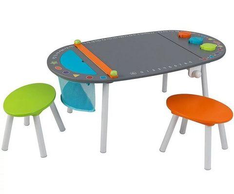 KidKraft Стол для рисования и 2 стула - набор детской мебели 26956_KE