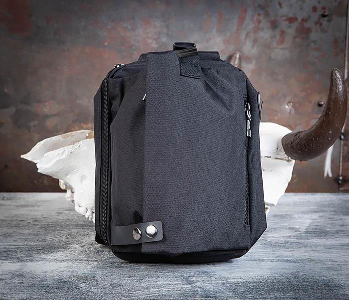 BAG456-1 Сумка черного цвета с одной лямкой через плечо фото 02
