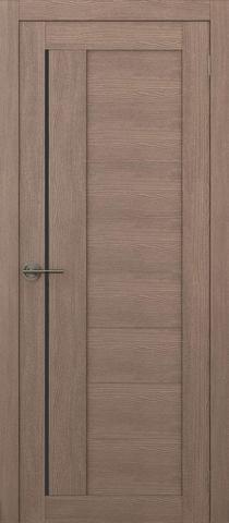Дверь APOLLO DOORS F1, стекло чёрное Lacobel, цвет орех золотой, остекленная