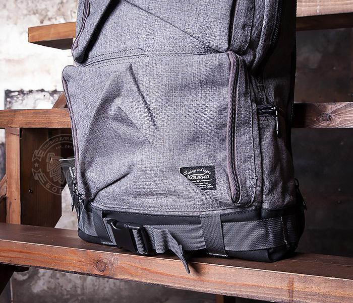 BAG405-2 Вместительный мужской рюкзак трансформер сумка для города из ткани фото 04