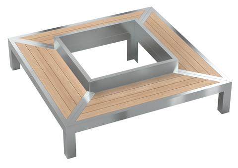 Bench GALAXY / quadrangular