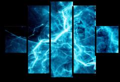 """Модульная картина """"Абстракция с элементами синего"""""""