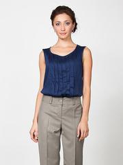 B1247-8 блузка женская, синяя