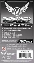 Протекторы для настольных игр Mayday Magnum Dwarf King French Tarot (61x112) - 100 штук