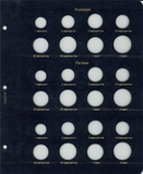Лист для монет Евросоюза регулярного чекана (Андора)