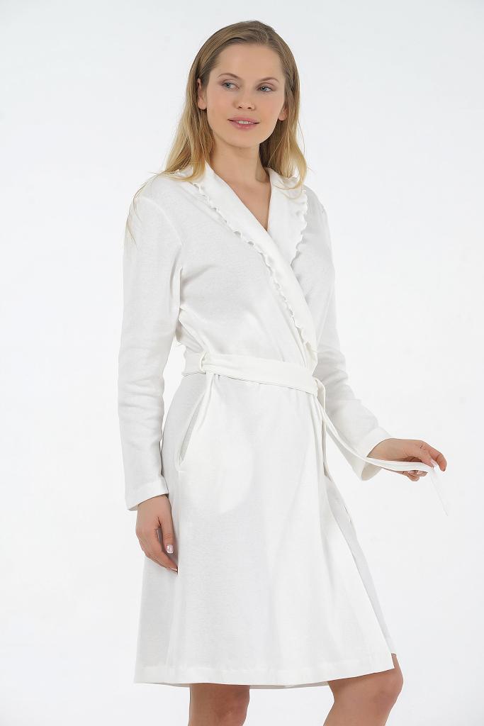 Женский халат из хлопка B&B (Женские халаты)