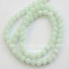 Бусина Жадеит (тониров), шарик, цвет - бледно-ментоловый, 6 мм, нить