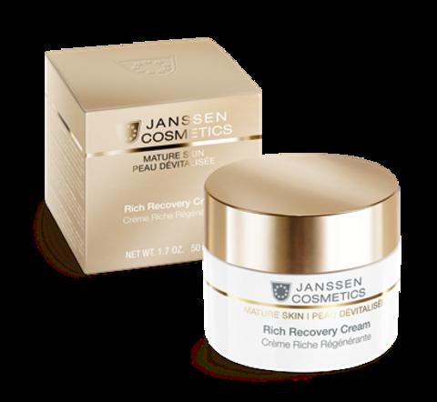 Обогащенный anti-age регенерирующий крем с комплексом Cellular Regeneration ,Janssen Rich Recovery Cream,200 мл