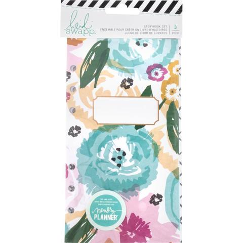 Комплект блоков ( 10,5 х19 см )  для блокнотов - 3 шт-  Heidi Swapp Large Memory Planner Storybook - Fresh Start, Playful