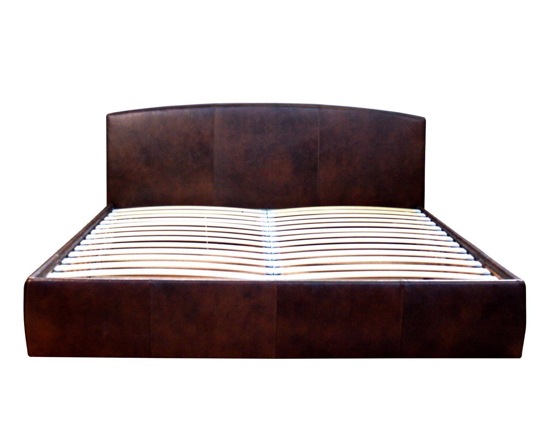 Кровать Севилья с ортопедическим основанием и ящиком для белья, обивка кожзам