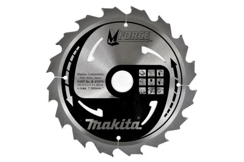 Пильный диск по дереву Makita M-FORCE 190*30/20/15,88*2 мм/12