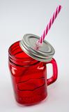 Баночка для смузи и коктейлей, красная