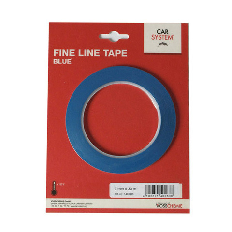 Контурная маскирующая лента виниловая,для дизайна сложных рельефных поверхностей,синяя 3мм/33мм