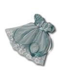 Платье из тафты - Мята. Одежда для кукол, пупсов и мягких игрушек.
